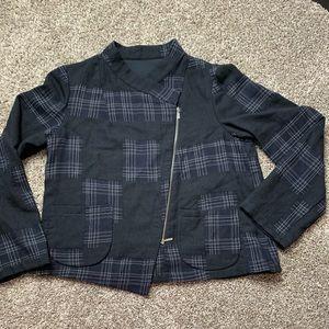 Vintage Babette wool blend jacket zip up Sz Large